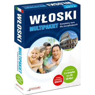 Włoski MultiPakiet (2 x Książka + 6 x CD Audio + MP3 z programem multimedialnym)