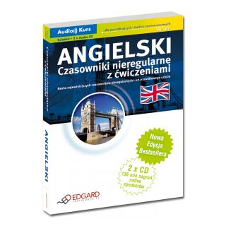 Angielski Czasowniki nieregularne z ćwiczeniami - Nowa Edycja (Książka + 2 x CD Audio)