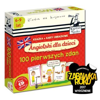Kapitan Nauka Angielski dla dzieci. 100 pierwszych zdań 6-9 lat (książka + karty obrazkowe + płyta CD)
