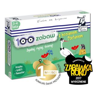 Kapitan Nauka. 100 zabaw z bocianem Stefanem 3-4 lata  (Książka + 30 ścieralnych kart + flamaster)