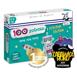 Kapitan Nauka. 100 zabaw z robotem Eliotem 4-5 lat (Książka + 30 ścieralnych kart + flamaster)