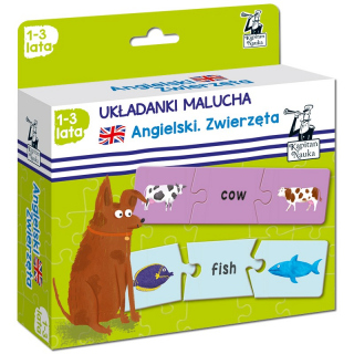 Kapitan Nauka Układanki malucha. Angielski Zwierzęta 1-3 lata (puzzle trzyelementowe)