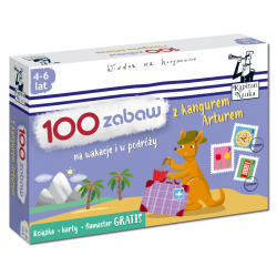 Kapitan Nauka. 100 zabaw z kangurem Arturem 4-6 lat (Książka + 30 dwustronnych zmywalnych kart + flamaster)