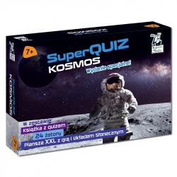 Kapitan Nauka. SuperQuiz. Kosmos 7+. Wydanie specjalne (książeczka + plansza XXL + żetony)