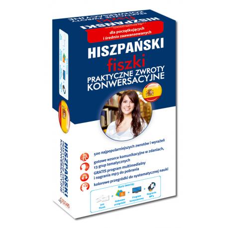Hiszpański fiszki Praktyczne zwroty konwersacyjne (500 fiszek + program i nagrania do pobrania)