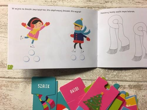 Kapitan Nauka Świat malucha Zima 2-3 lata (książka + karty obrazkowe + puzzle)