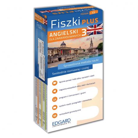 Angielski. Fiszki PLUS dla zaawansowanych 3  (600 fiszek + program i nagrania do pobrania + kolorowe przegródki + etui)