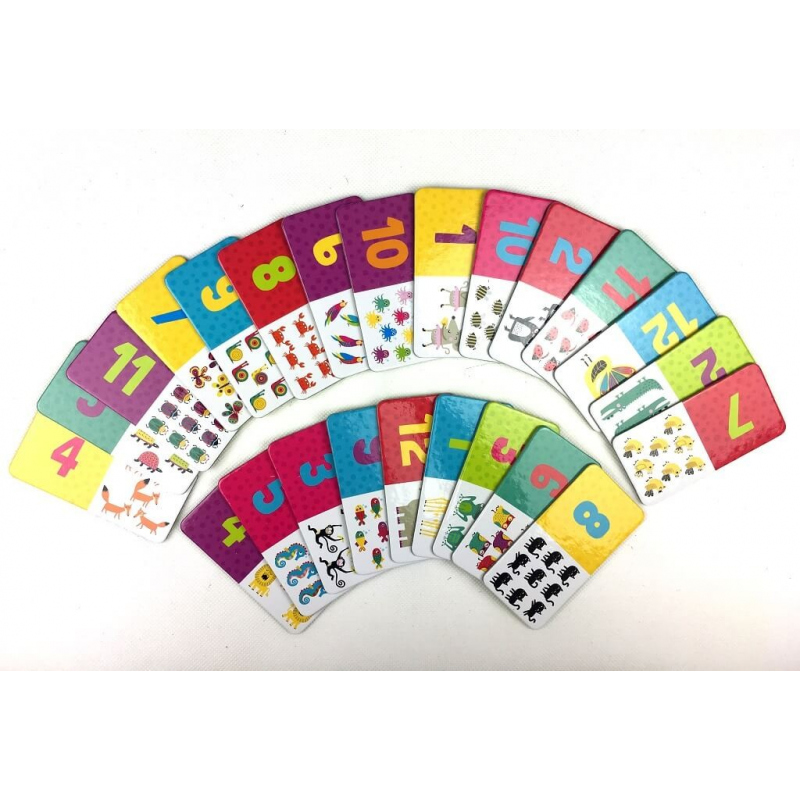Kapitan Nauka. Domino obrazkowe Liczby 3+