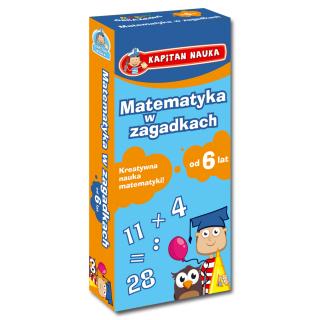 Kapitan Nauka Karty obrazkowe Matematyka w zagadkach (od 6 lat) (Książeczka z kartami obrazkowymi)