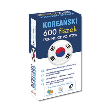 Koreański 600 fiszek Trening od podstaw +CD (600 fiszek ze słówkami + nagrania MP3 + program + kolorowe przegródki )