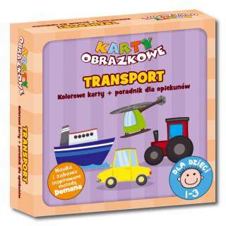 Karty obrazkowe Transport (od 1 do 3 lat) (Kolorowe karty + poradnik dla opiekunów)