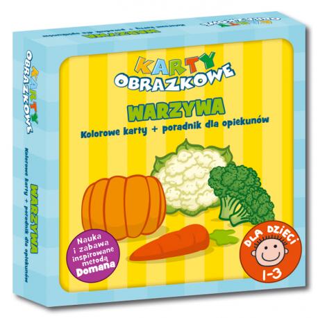 Karty obrazkowe Warzywa (od 1 do 3 lat) (Kolorowe karty + poradnik dla opiekunów)