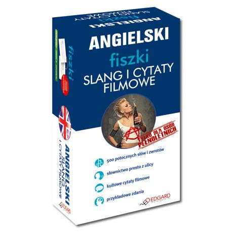Angielski fiszki Slang i cytaty filmowe  (500 fiszek + instrukcja)