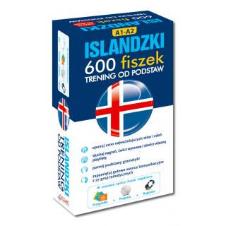 Islandzki 600 fiszek Trening od podstaw (600 fiszek + program i nagrania do pobrania online + Kolorowe przegródki)
