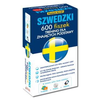 Szwedzki 600 fiszek Trening dla znających podstawy +CD (600 fiszek + CD-ROM z programem + Fiszki mp3 + Kolorowe przegródki)