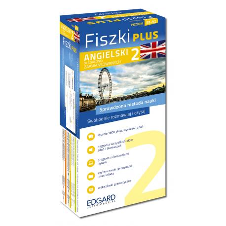 Angielski Fiszki PLUS dla średnio zaawansowanych 2 (600 fiszek + program i nagrania do pobrania + kolorowe przegródki + etui)