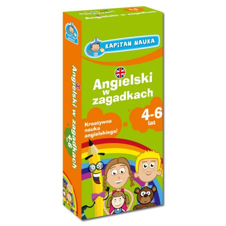 Kapitan Nauka Karty obrazkowe Angielski w zagadkach 4-6 lat (Książeczka z kartami obrazkowymi)