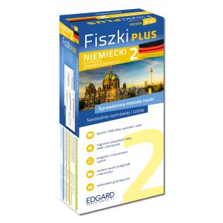 Niemiecki Fiszki PLUS dla średnio zaawansowanych 2  (600 fiszek + program i nagrania do pobrania + kolorowe przegródki + etui)