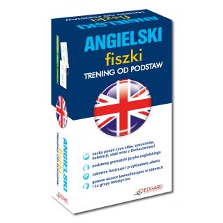 Angielski Fiszki Trening od podstaw  (500 fiszek + kolorowe przegródki)