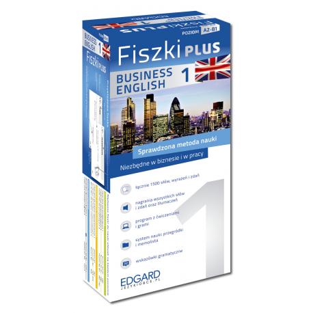 Angielski Fiszki PLUS Business English 1  (600 fiszek + program i nagrania do pobrania + kolorowe przegródki + etui)