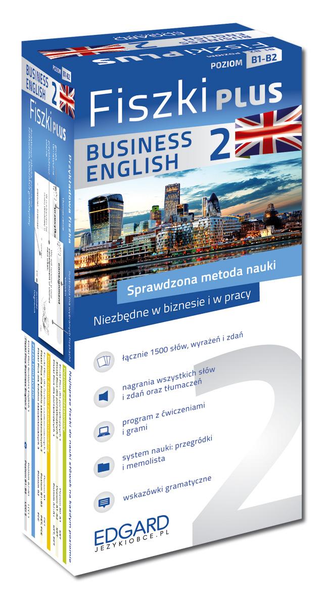 Ogromny Angielski Fiszki PLUS Business English 2 (600 fiszek + program i WW61
