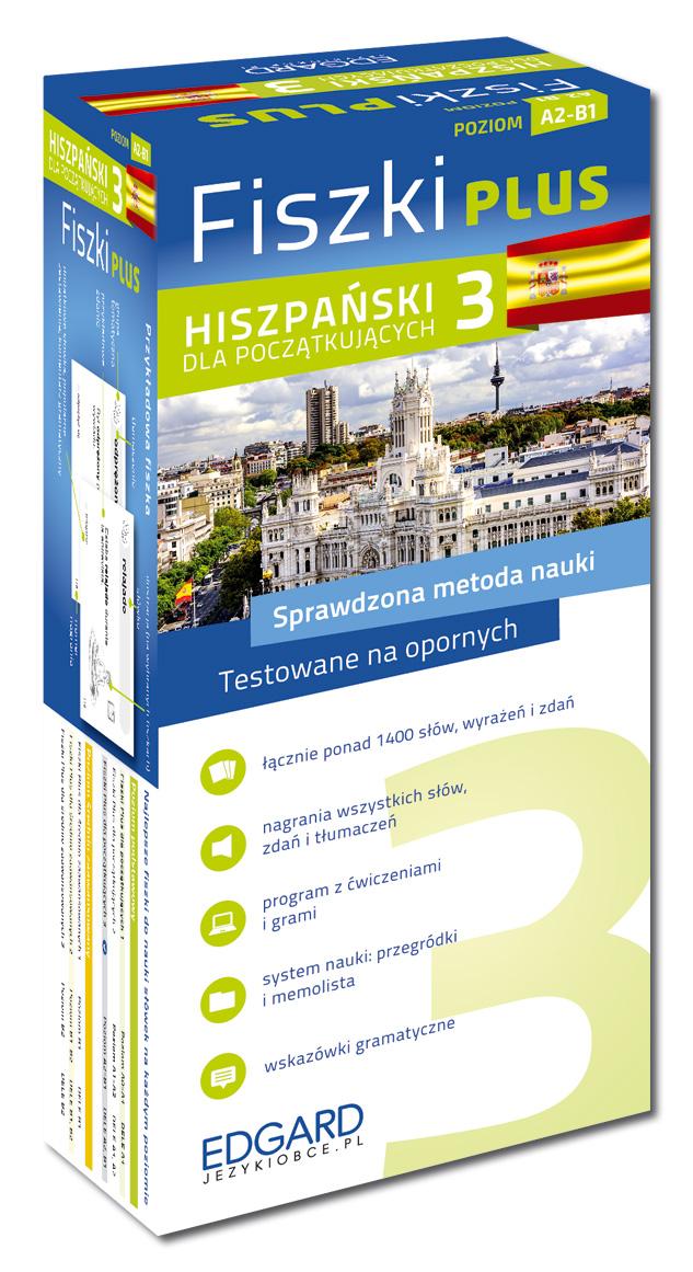 Inne rodzaje Hiszpański Fiszki PLUS dla początkujących 3 (600 fiszek + program YK24