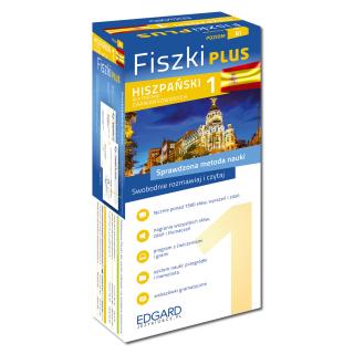 Hiszpański Fiszki PLUS dla średnio zaawansowanych 1 (600 fiszek + program i nagrania do pobrania + kolorowe przegródki + etui)
