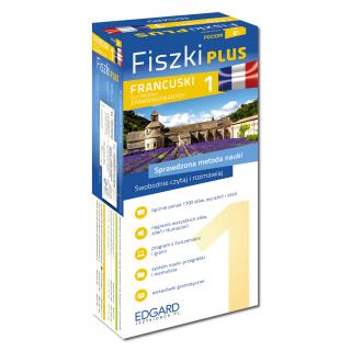 Francuski Fiszki PLUS dla średnio zaawansowanych 1  (600 fiszek + program i nagrania do pobrania + kolorowe przegródki + etui)