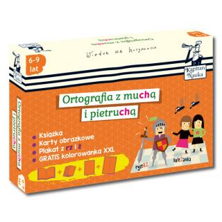 Kapitan Nauka Pakiet Ortografia z muchą i pietruchą (6-9 lat) (Poradnik dla opiekunów + karty obrazkowe + plakat + kolorowanka XXL)