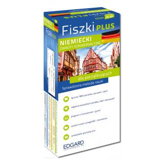 Niemiecki Fiszki PLUS Zwroty konwersacyjne dla początkujących  (600 fiszek + program i nagrania do pobrania + kolorowe przegródki + etui)