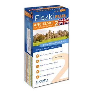 Angielski Fiszki PLUS dla zaawansowanych 2 (600 fiszek + program i nagrania do pobrania + kolorowe przegródki + etui)