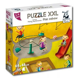 Kapitan Nauka. Puzzle XXL Plac zabaw 2-4 lata (15 elementów)