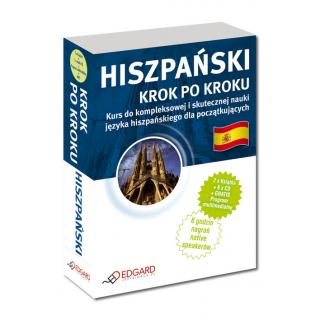 Hiszpański Krok po kroku (2 x Książka + 5 x CD Audio + MP3 + Program komputerowy)
